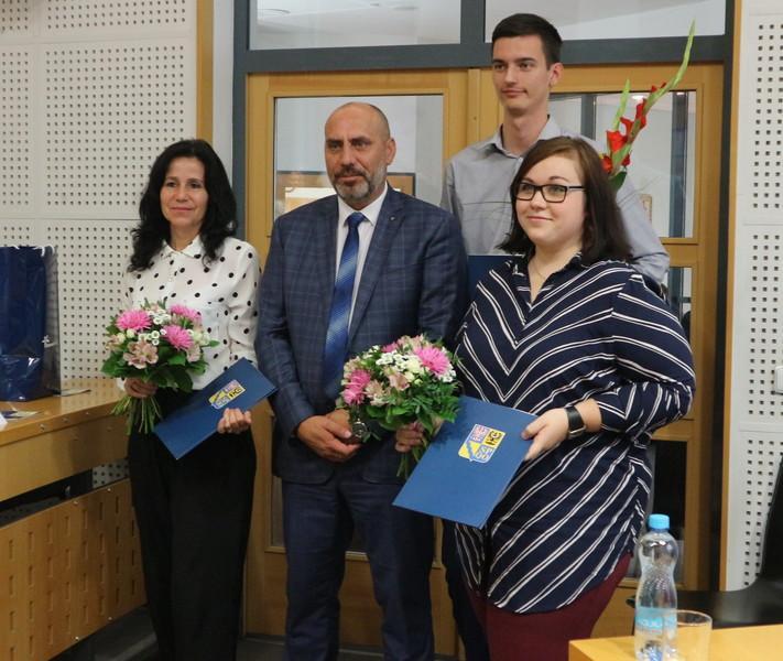 Zleva: Lenka Stojková, František Jura, Tomáš Pavelka aVeronika Vališová